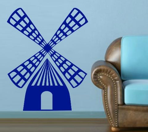 WINDMILL 1 WALL ART STICKER XLRG VINYL DECAL - Vinyl Lady Decals  - 1