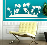 PALM ISLAND 1 WALL ART STICKER XXLRG VINYL DECAL - Vinyl Lady Decals  - 1