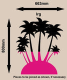 PALM ISLAND 2 WALL ART STICKER XLRG VINYL DECAL - Vinyl Lady Decals  - 4