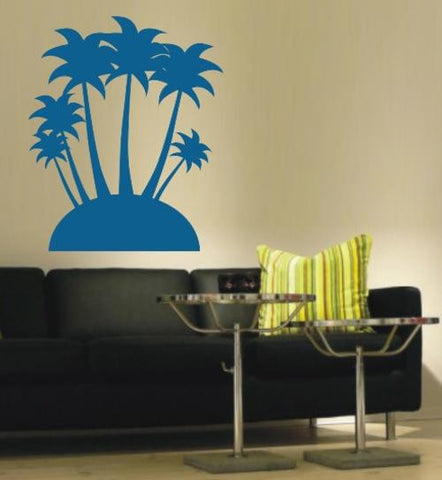 PALM ISLAND 2 WALL ART STICKER XLRG VINYL DECAL - Vinyl Lady Decals  - 1