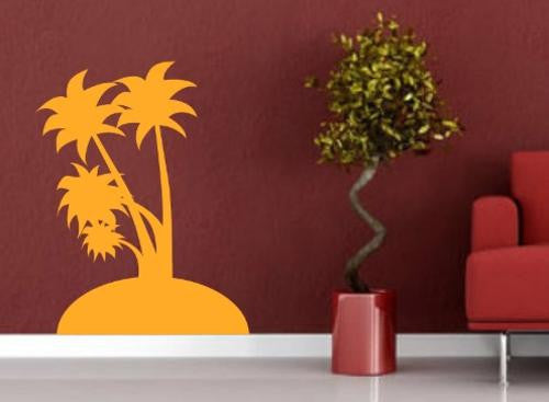 PALM ISLAND 3 WALL ART STICKER XLRG VINYL DECAL - Vinyl Lady Decals  - 1