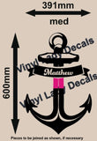 PERSONALISED ANCHOR 1 WALL ART STICKER XLRG VINYL DECAL - Vinyl Lady Decals  - 8