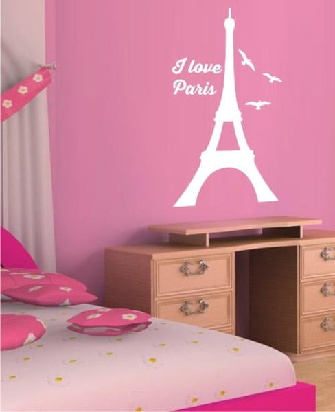 Eiffel Tower Paris Wall Art Sticker Vinyl Decal Various Sizes