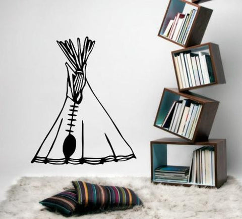 American Indian Teepee Tent Wall Art Sticker Vinyl Decal Various Sizes