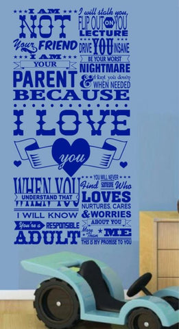 YOUR PARENT INSPIRATIONAL QUOTATION 1  WALL ART STICKER XLRG VINYL DECAL - Vinyl Lady Decals  - 1