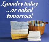 LAUNDRY TODAY INSPIRATIONAL QUOTE 1 WALL ART STICKER XLRG VINYL DECAL - Vinyl Lady Decals  - 1