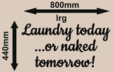 LAUNDRY TODAY INSPIRATIONAL QUOTE 2 WALL ART STICKER XLRG VINYL DECAL - Vinyl Lady Decals  - 4