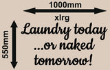 LAUNDRY TODAY INSPIRATIONAL QUOTE 2 WALL ART STICKER XLRG VINYL DECAL - Vinyl Lady Decals  - 3