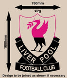 RETRO LIVERPOOL FOOTBALL CLUB LOGO WALL ART STICKER XLRG VINYL DECAL - Vinyl Lady Decals  - 3