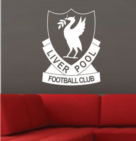 RETRO LIVERPOOL FOOTBALL CLUB LOGO WALL ART STICKER XLRG VINYL DECAL - Vinyl Lady Decals  - 1