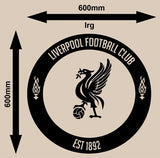 LIVERPOOL FOOTBALL CLUB CIRCLE 3 WALL ART STICKER LRG VINYL DECAL - Vinyl Lady Decals  - 3