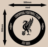 LIVERPOOL FOOTBALL CLUB CIRCLE 3 WALL ART STICKER LRG VINYL DECAL - Vinyl Lady Decals  - 4