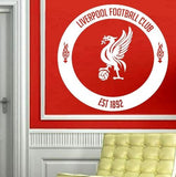 LIVERPOOL FOOTBALL CLUB CIRCLE 3 WALL ART STICKER LRG VINYL DECAL - Vinyl Lady Decals  - 1
