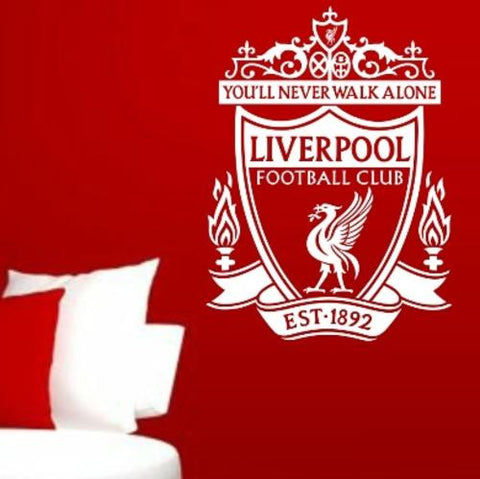 LIVERPOOL FOOTBALL CLUB LOGO WALL ART STICKER XLRG VINYL DECAL - Vinyl Lady Decals  - 1