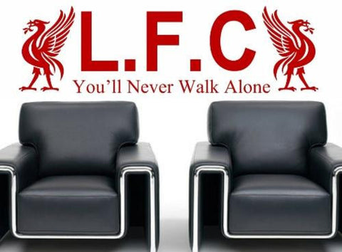 LIVERPOOL FOOTBALL CLUB DESIGN 2 WALL ART STICKER LRG VINYL DECAL - Vinyl Lady Decals  - 1