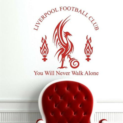 STYLIZED LIVERPOOL FOOTBALL CLUB DESIGN WALL ART STICKER XLRG VINYL DECAL - Vinyl Lady Decals  - 1