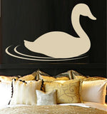 SWAN BIRD 1 WALL ART STICKER XLRG VINYL DECAL - Vinyl Lady Decals  - 1