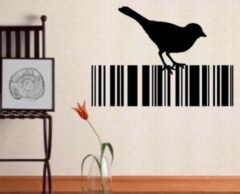Bird Barcode 9 Wall Art Sticker Vinyl Decal Various Sizes