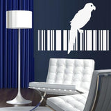 Bird Barcode 13 Wall Art Sticker Vinyl Decal Various Sizes