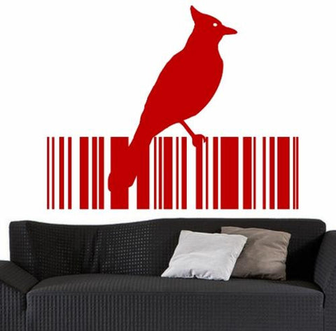 Bird Barcode 14 Wall Art Sticker Vinyl Decal Various Sizes