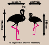 PAIR OF FLAMINGO BIRDS WALL ART STICKER LRG VINYL DECAL - Vinyl Lady Decals  - 4