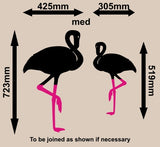 PAIR OF FLAMINGO BIRDS WALL ART STICKER LRG VINYL DECAL - Vinyl Lady Decals  - 5
