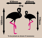 PAIR OF FLAMINGO BIRDS WALL ART STICKER LRG VINYL DECAL - Vinyl Lady Decals  - 3