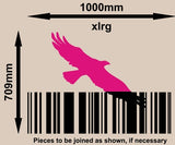 Flying Eagle Bird Barcode Wall Art Sticker Vinyl Decal Various Sizes
