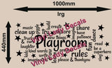 PLAYROOM WORD CLOUD FOR YOUR CHILD'S ROOM DESIGN 3 WALL ART STICKER LRG VINYL DECAL - Vinyl Lady Decals  - 4
