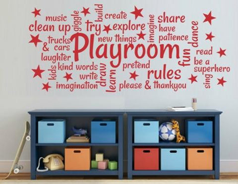 PLAYROOM WORD CLOUD FOR YOUR CHILD'S ROOM DESIGN 3 WALL ART STICKER LRG VINYL DECAL - Vinyl Lady Decals  - 1