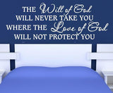 WILL OF GOD CHRISTIAN INSPIRATIONAL QUOTE 1 WALL ART STICKER LRG VINYL DECAL - Vinyl Lady Decals  - 1