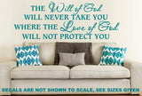 WILL OF GOD CHRISTIAN INSPIRATIONAL QUOTE 1 WALL ART STICKER LRG VINYL DECAL - Vinyl Lady Decals  - 6