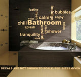 Bathroom Inspirational Words Wall Art Stickers Vinyl Decal Various Sizes