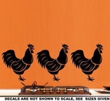 SET OF ROOSTERS 1 WALL ART STICKERS XLRG VINYL DECAL - Vinyl Lady Decals  - 4