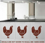 SET OF HENS 1 WALL ART STICKER XLRG VINYL DECAL - Vinyl Lady Decals  - 5