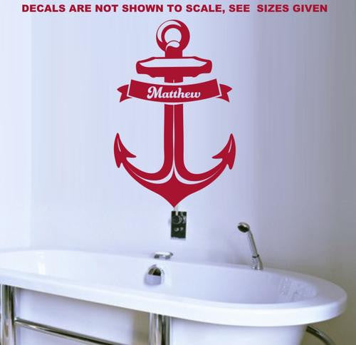 PERSONALISED ANCHOR 1 WALL ART STICKER XLRG VINYL DECAL - Vinyl Lady Decals  - 1