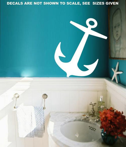 NAUTICAL ANCHOR 2 WALL ART STICKER XLRG VINYL DECAL - Vinyl Lady Decals  - 1