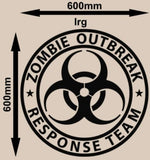 ZOMBIE RESPONSE TEAM WALL/CAR ART STICKER LRG VINYL DECAL - Vinyl Lady Decals  - 5