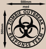 ZOMBIE RESPONSE TEAM WALL/CAR ART STICKER LRG VINYL DECAL - Vinyl Lady Decals  - 6