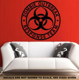 ZOMBIE RESPONSE TEAM WALL/CAR ART STICKER LRG VINYL DECAL - Vinyl Lady Decals  - 4