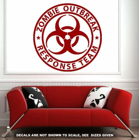 ZOMBIE RESPONSE TEAM WALL/CAR ART STICKER LRG VINYL DECAL - Vinyl Lady Decals  - 1