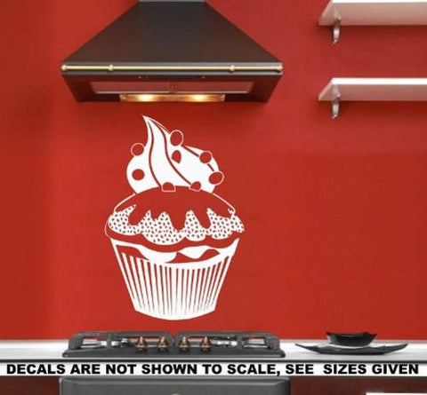 Giant Cupcake Wall Art Sticker Vinyl Decal Various Sizes