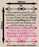 God Knows You 1 Corinthians 1:7-8 Bible Quotation Sticker Vinyl Decal Various Sizes