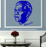 NELSON MANDELA PORTRAIT WALL ART STICKER 1 XLRG VINYL DECAL - Vinyl Lady Decals  - 5