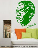NELSON MANDELA PORTRAIT WALL ART STICKER 1 XLRG VINYL DECAL - Vinyl Lady Decals  - 4