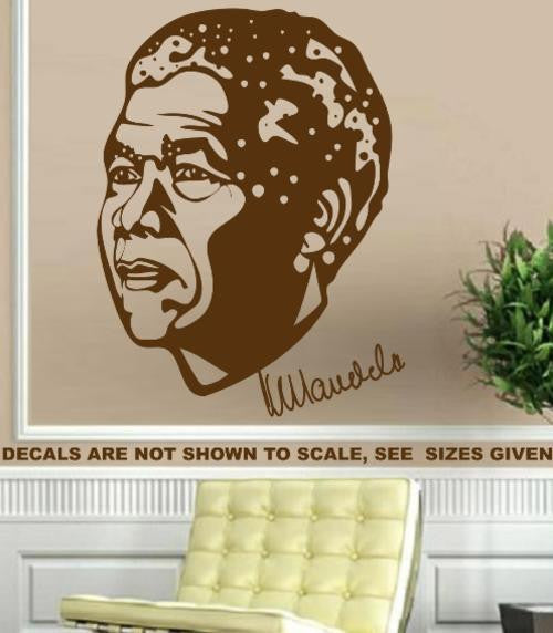 NELSON MANDELA PORTRAIT WALL ART STICKER 1 XLRG VINYL DECAL - Vinyl Lady Decals  - 1