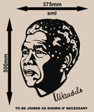 NELSON MANDELA PORTRAIT WALL ART STICKER 1 XLRG VINYL DECAL - Vinyl Lady Decals  - 9