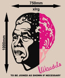 NELSON MANDELA PORTRAIT WALL ART STICKER 1 XLRG VINYL DECAL - Vinyl Lady Decals  - 6