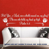 PSALM 3:3 BIBLE QUOTATION 3 STICKER LRG VINYL DECAL - Vinyl Lady Decals  - 4
