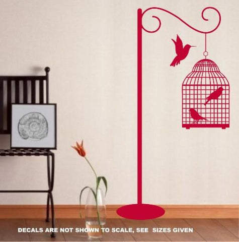 STANDING BIRDCAGE WALL ART STICKER XLRG VINYL DECAL - Vinyl Lady Decals  - 1
